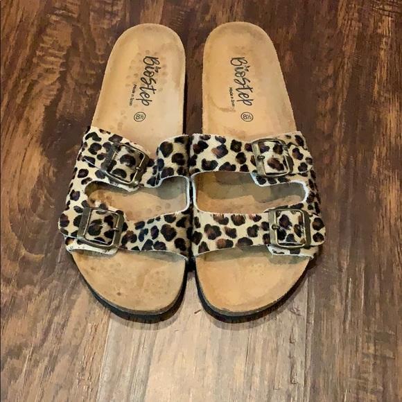 biostep Shoes   Leopard Biostep Sandals